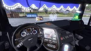 renault truck interior for daf xf for euro truck simulator 2