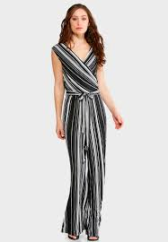 jumpsuits black striped black and white jumpsuit jumpsuits cato fashions