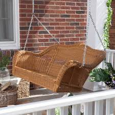 Porch Coral Coast Casco Bay Resin Wicker Porch Swing With Optional