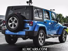 jeep sahara 2016 blue 2016 used jeep wrangler unlimited 4wd 4dr sahara at alm gwinnett