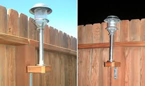 Solar Light Ideas by How To Add Solar Lights To A Fence Home Design Garden