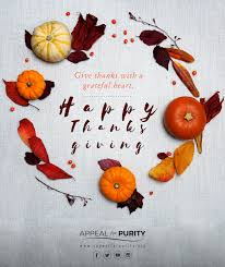 happy thanksgiving appeal for purity