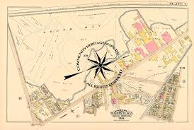 Map Of Greater Boston Area by Antique Historic Original And Restored Maps Of South Boston