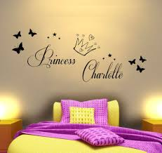 bedroom quilt picture more detailed picture about personalised personalised princess vinyl wall art sticker girls bedroom mural any name