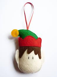 felt elf christmas tree decoration ornament holiday decoration
