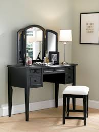 Tri Fold Bathroom Mirror by Classic Broken White Wooden Vanity Table With Carved Wooden