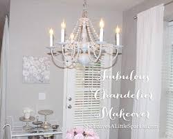 Dear Chandelier Fabulous Chandelier Makeover Summer Adams