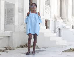 chambray dress gladiator sandals u2013 chicglamstyle