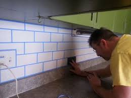 how to paint tile backsplash in kitchen painted subway tile backsplash hometalk
