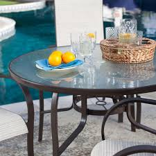 Outdoor Sling Chairs 5 Piece Patio Furniture Dining Set With Round Table And 4 Padded