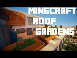 minecraft roof top gardens creative ideas youtube