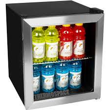 Glass Door Home Refrigerator by Compact Beverage Center Glass Door Refrigerator Stainless Steel