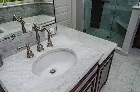 White Carrera Marble Bathroom - dc metro white carrara marble bathroom traditional with espresso