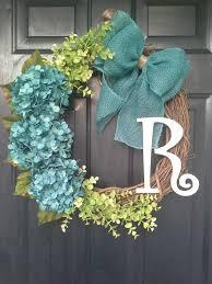 wreath ideas cool inspiration hydrangea wreaths for front door diy 25 unique