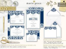 wedding stationery templates navy wedding invitation diy wedding stationery template