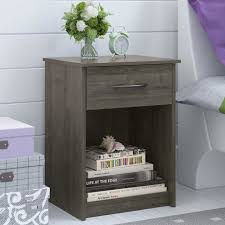nightstand appealing espresso nightstands youll love wayfair