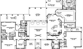 one story house blueprints awesome 6 bedroom one story house plans photos 3d house designs