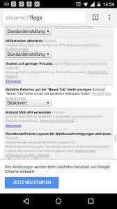 Chrome Flags Android Google Schnellzugriff Seite Ausblenden Modopo Handy Forum