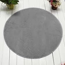 Plush Floor Rugs 120cm Non Slip Bedroom Floor Mat Fluffy Soft Plush Rug Pure Colour