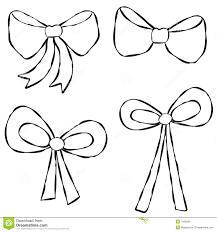 ribbons and bows ribbons bows line stock illustration image of clip 7266690