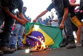 Flag Burning Protest As Brazil Barrels Toward World Cup Brazilians Aren U0027t Feeling It