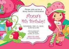 printable birthday invitations strawberry shortcake strawberry shortcake birthday party invitation free thank you card