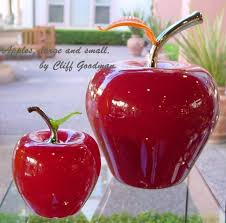 glass fruit apple oversized by cliff goodman cliff goodman
