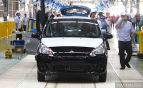 kereta mitsubishi attrage mitsubishi begins production at new philippines plant