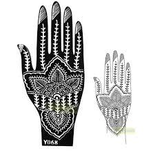 1pc large india mehndi henna art glitter temporary tattoo