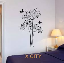 wall stickers dandelion image of wall decals flowers ideas butterfly dandelion flowers wall art decal sticker removable vinyl transfer stencil mural home bedroom decor removable wall art stickers uk decal wall art