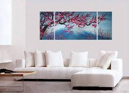 cherry decorations for home blossom canvas wall art modern abstract art home decor