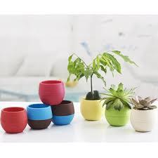 cute candy colors bonsai flower pots round planter succulent