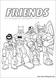 super friends coloring picture colouring for kids big kids too