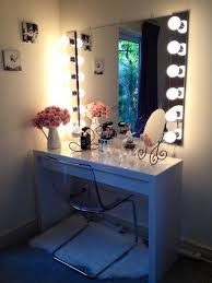 Glass Vanity Table White Makeup Vanity Set With Lights Home Vanity Decoration