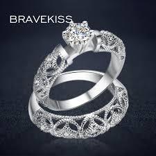 filigree wedding band bravekiss vintage bridal ring set for women filigree