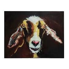 Goat Decor Goat Canvas Wall Décor 3r Studios Target