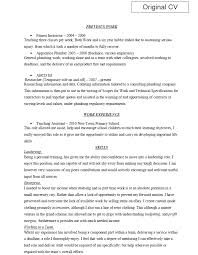 is cv exles of work from cv shop