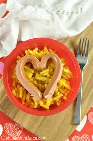 valentines day dinner idea dog hearts with mac u0026 cheese