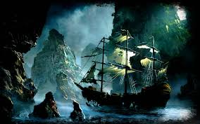 free ghost pirate ship backgrounds long wallpapers