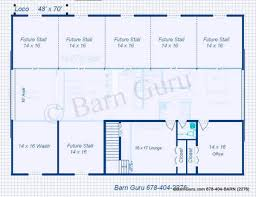 Barn Designs For Horses 6 Stall Horse Barn Plans
