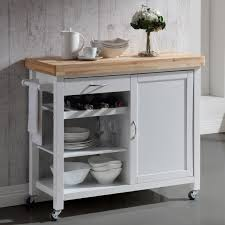 kitchen white stained wood kitchen cart with solid wood butcher