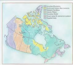 Canada Road Trip Map by Land Form Regions Road Trip Thinglink