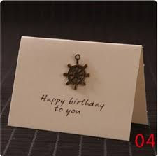 online shop new metal retro greeting card holiday message wish