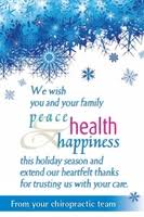 we wish you and your family peace health and happiness