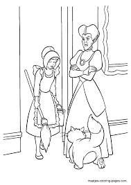 cinderella coloring pages colouring
