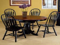Round Dining Table Expandable Dining Sweet Purple Flowers On Dark Brown Round Expandable