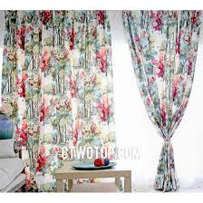 Teal And Red Curtains Red And Multi Color Designer Primitive Clearance Floral Curtains