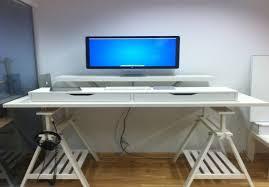 Stand Up Computer Desk Ikea Desk Adjustable Standing Desks Awesome Sitting To Standing Desk