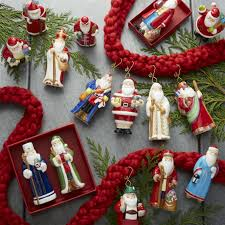 around the world santa ornaments set of 15 crate and barrel