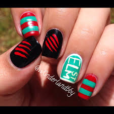 a nightmare on elm street nail art freddy krueger nail art love